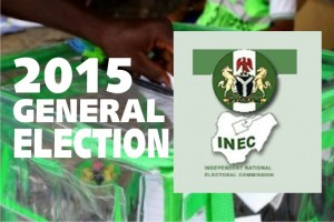 INEC logo and 2015 election banner