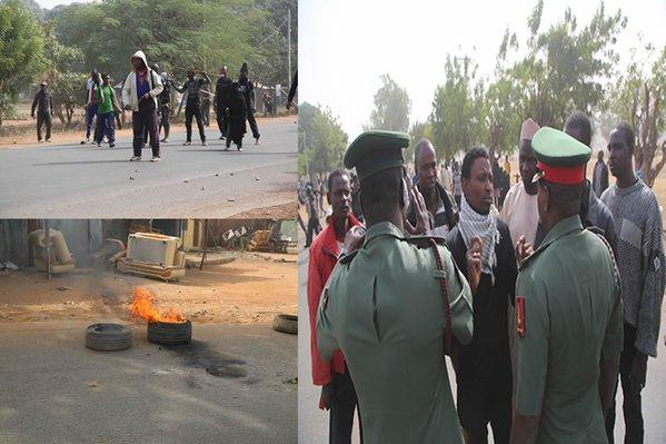 Shiite Sect Attacked Chief Of Army Staffs Convoy, Nigeria Army say; Dec 2015.(Image credit: Nigeria Army)