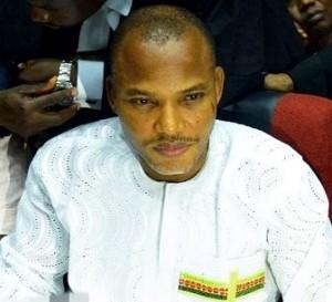 Nnamdi Kanu at the Federal High Court in Abuja on 19 February 2016