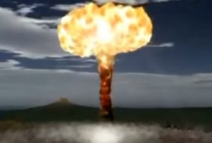 An illustrative image of nuclear explosion