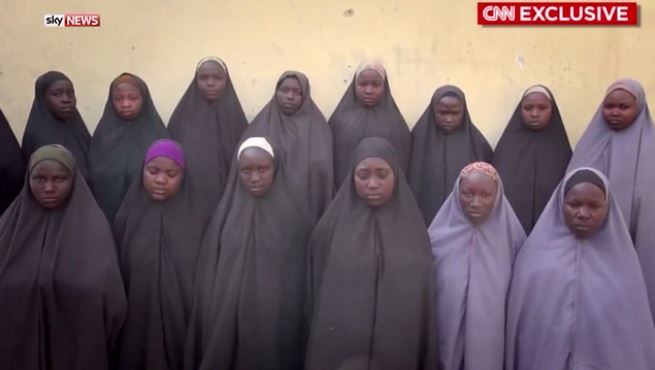 Kidnnapped Chibok girls'