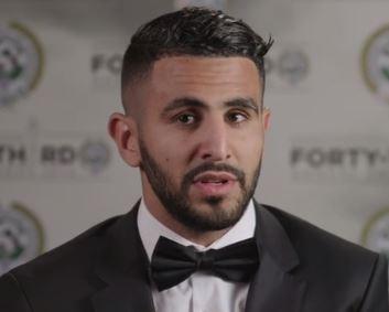 Leicester's striker Riyad Mahrez