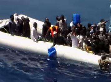 Migrants on the sea, seeking to enter Europe