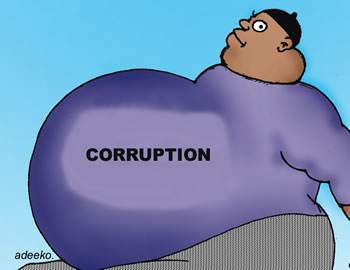 Corruption cartoon