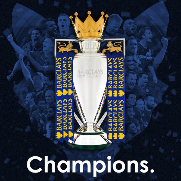 Leicester City FC has won the Premier League. (Image credit @LCFC / Twitter)