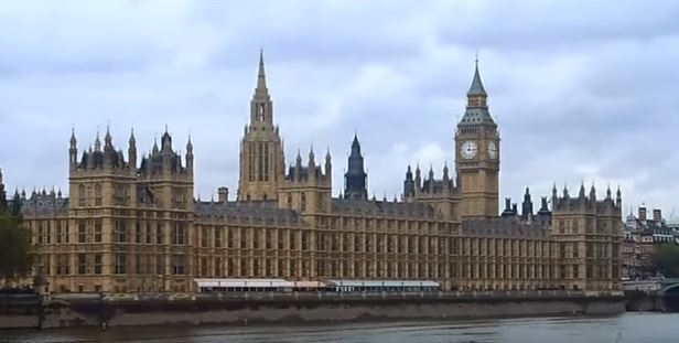 The Palace of Westminster, London, the meeting place of the two houses of the Parliament - the House of Commons and the House of Lords
