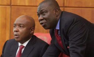 Bukola Saraki (L) and Ike Ekweremadu