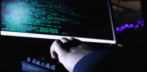 Computer. Hacker. Cyberattack