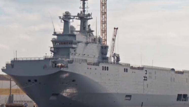 Mistral warship