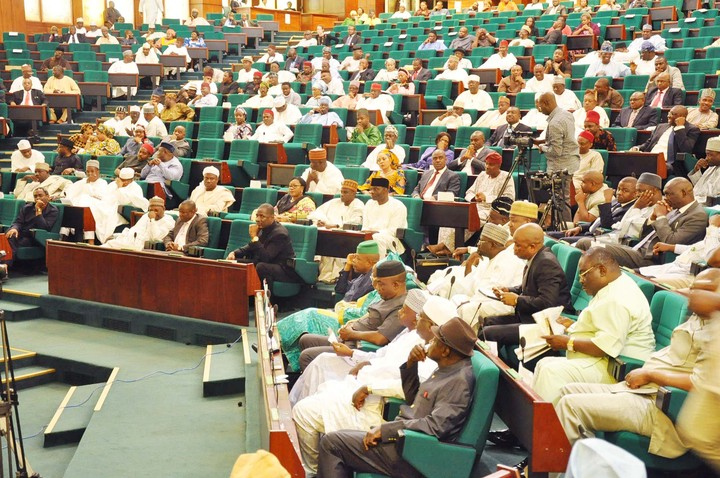 A plenary session of Nigeria's House of Representatives