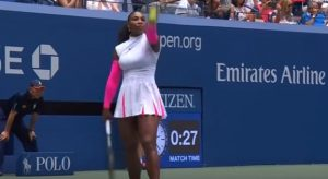 Serena Williams v Johanna Larsson at the U.S. Open 2016, September 2016