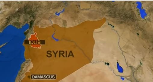 Map showing Syria