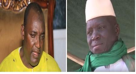 President-elect Adama Barrow (L) and The Gambia president Yahya AJJ Jammeh Babili Mansa