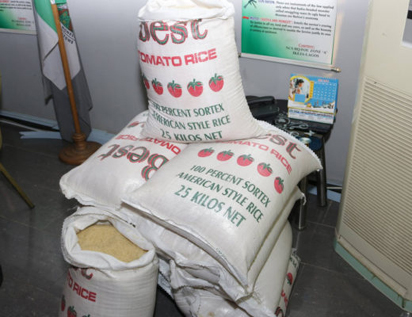 Samples of the rice that were seized. (Image credit NAN)