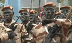 Ivorian soldiers during a ceremony in 2015