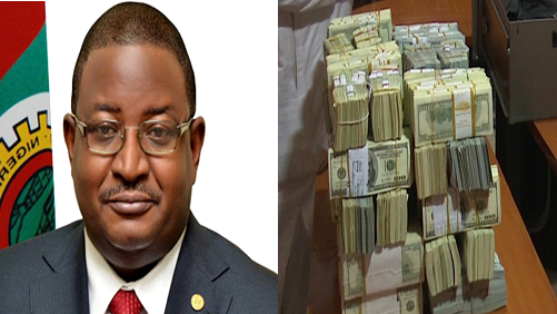 $9.77 million & £74,000.00 were recovered from the house of Andrew Yakubu, a former NNPC Boss