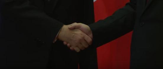 Handshake. Friendly