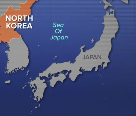 North Korea, Sea of Japan, Japan
