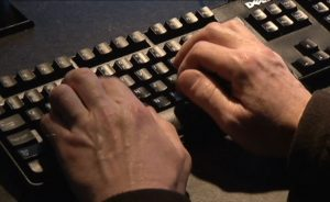 Computer. Cyberattack