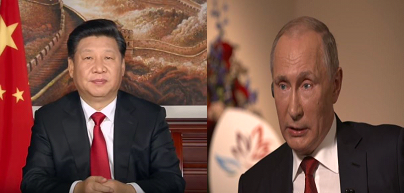 Chinese President Xi Jinping (L) and Russia President Vladimir Putin