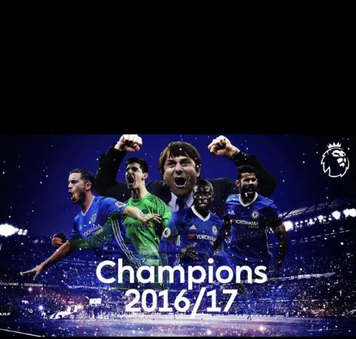 Chelsea FC win English Premier League, 2016/2017. (Image source: Twitter)