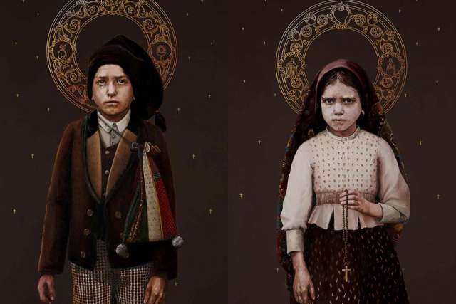 Official portrait of Francisco and Jacinta Marto, designed by Silvia Patricio. Courtesy of the Fatima Shrine