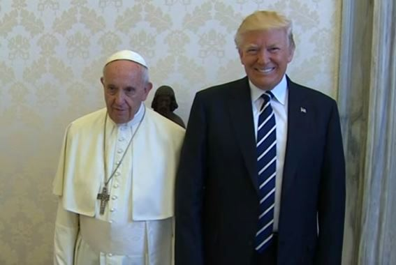 Pope Francis and President Donald Trump met at the Apostolic Palace in Vatican City on Wednesday, the 24th May 2017