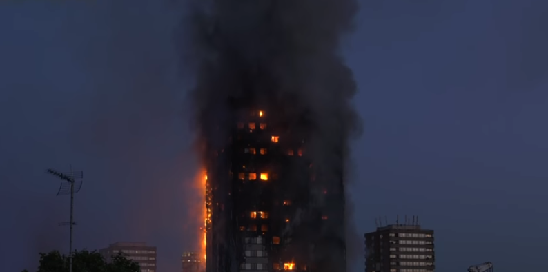 Glenfell Tower in London was destroyed by fire, 14 June 2017