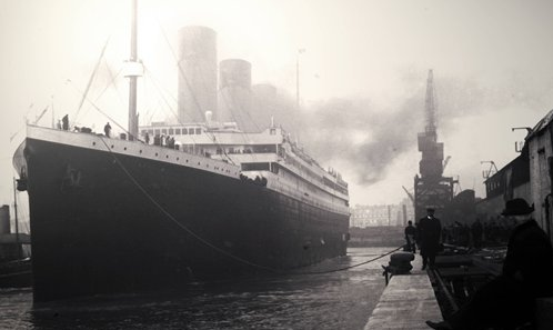 A photo of Titanic taken before it set sail in England. Photo: IC / Global Times.
