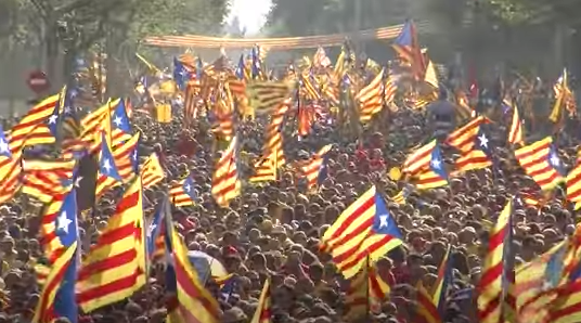 Catalan flag: Some Catalans want independence from Spain