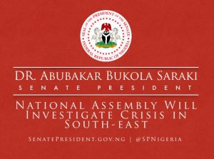 Operation Python Dance II: Nigeria Senate will investigate. (Image credit: The Senate President/@SPNigeria)