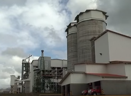 Cement production plant.