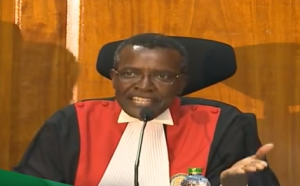 Judge David Maraga of the Supreme Court of Kenya