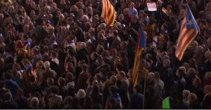 Pro Catalan independence rally in Barcelona, 11 Nov 2017