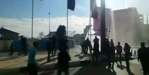 Protesters in Iran, Dec. 2017