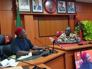Innoson Vehicle Chairman, Innocent Chukwuma (L) and Nigeria Chief of Army Staff, Lieutenant general Tukur Yusuf Buratai