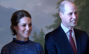 Duchess of Cambridge (L) and the Duke of Cambridge
