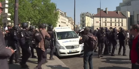 Anti-Macron protest in Paris, May 2018