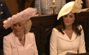 Camilla (Duchess of Cornwall) and Kate (Duchess of Cambridge ) at Windsor Castle during the wedding, 19 May 2018