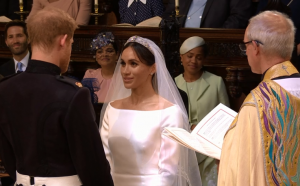 Meghan Markle and Prince Harry wed at Windsor Castle, 19 May 2018.