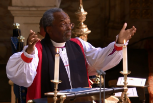 Most Rev Bishop Michael Curry delivered a sermon during the Royal Wedding, 19 May 2018