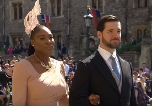Serena Williams and her husband Alexis Ohanian at the wedding between Meghan Markle and Prince Harry at Windsor Castle, 19 May 2018