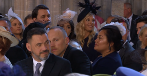 Some of the celebrities and guests at the wedding between Meghan Markle and Prince Harry at Windsor Castle, 19 May 2018