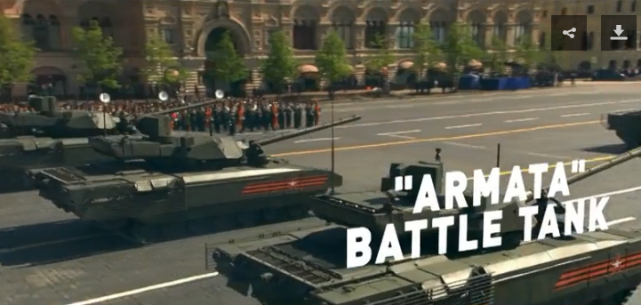 The traditional Victory Day military parade in Moscow, May 2018