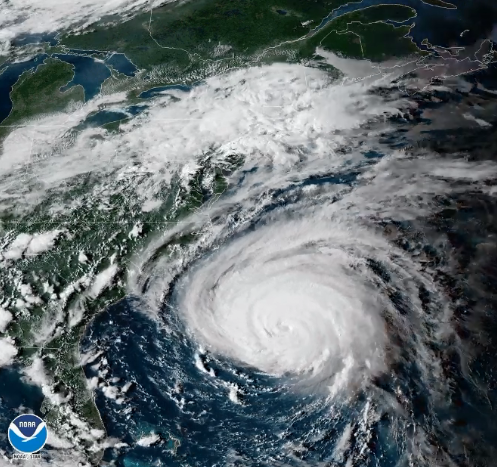Hurricane Florence. (Screen shot from @NWS - U.S. National Weather Service)