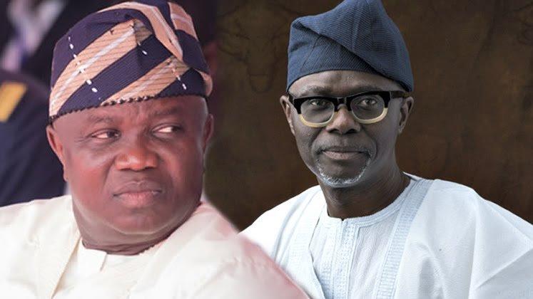 Akinwunmi Ambode (L) and Babajide Sanwo-Olu (R)