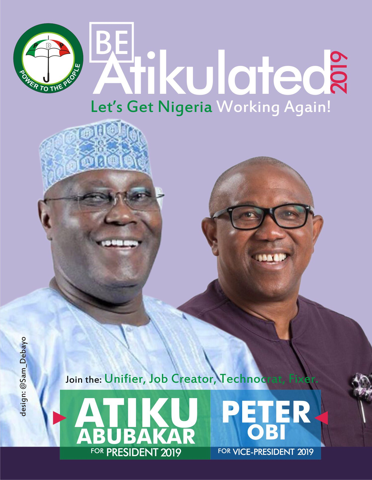 Atiku Abubakar (L) and Peter Obi