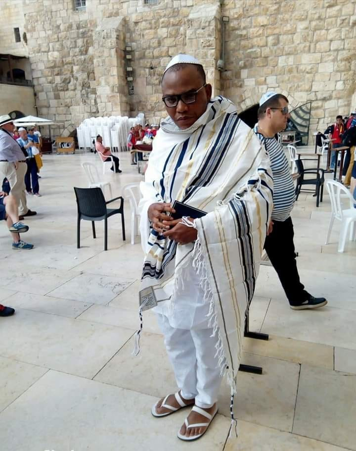 Nnamdi Kanu in Jerusalem, as seen on video on 19 October 2018