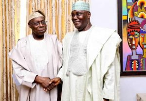 Olusegun Obasanjo and Atiku Abubakar in Abeokuta, 11.10.2018