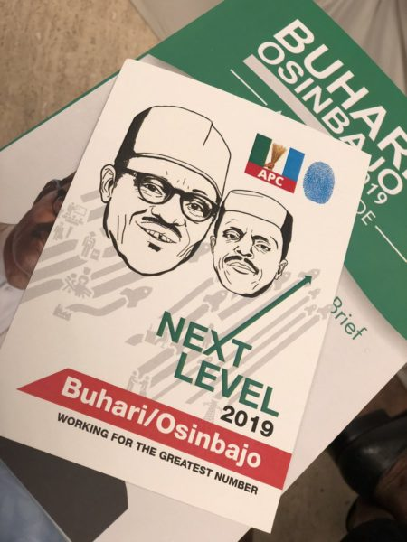 APC Presidential Candidate, Muhammadu Buhari and his running mate Yemi Osinbajo on cover page, 18.11.2018